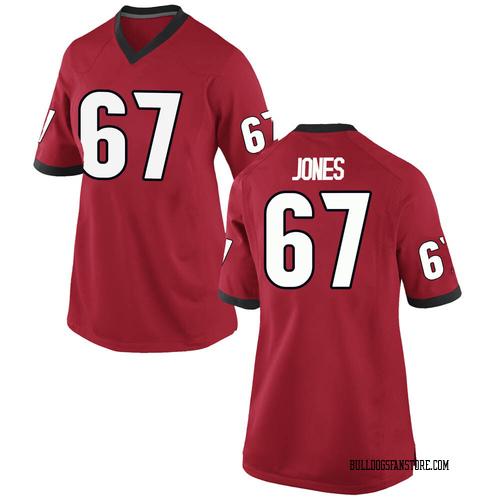 Women's Nike Caleb Jones Georgia Bulldogs Game Red Football College Jersey