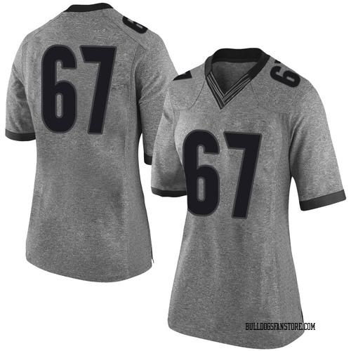 Women's Nike Caleb Jones Georgia Bulldogs Limited Gray Football College Jersey