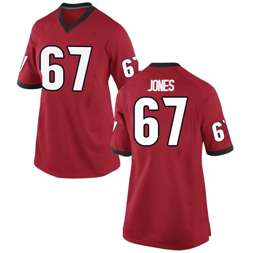 Women's Nike Caleb Jones Georgia Bulldogs Replica Red Football College Jersey