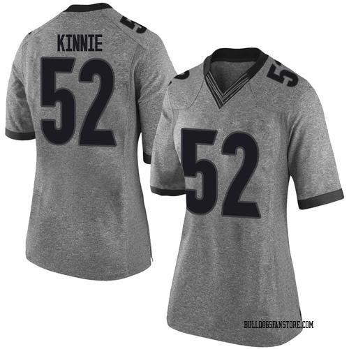 Women's Nike Cameron Kinnie Georgia Bulldogs Limited Gray Football College Jersey