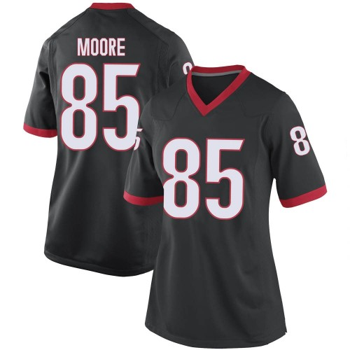 Women's Nike Cameron Moore Georgia Bulldogs Game Black Football College Jersey
