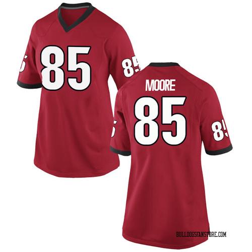 Women's Nike Cameron Moore Georgia Bulldogs Game Red Football College Jersey