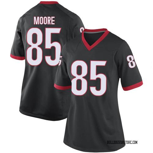 Women's Nike Cameron Moore Georgia Bulldogs Replica Black Football College Jersey