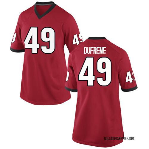 Women's Nike Christian Dufrene Georgia Bulldogs Game Red Football College Jersey