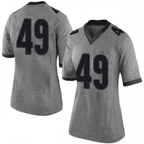 Women's Nike Christian Dufrene Georgia Bulldogs Limited Gray Football College Jersey