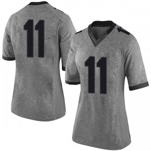 Women's Nike Christian Harrison Georgia Bulldogs Limited Gray Football College Jersey