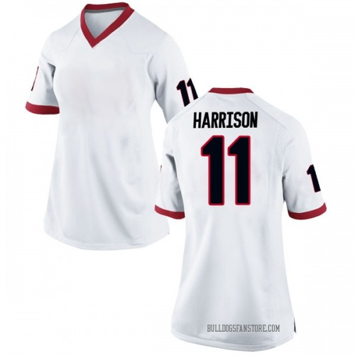 Women's Nike Christian Harrison Georgia Bulldogs Replica White Football College Jersey