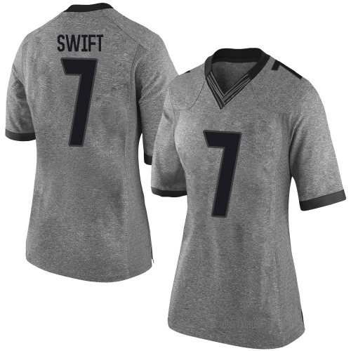 Women's Nike D'Andre Swift Georgia Bulldogs Limited Gray Football College Jersey