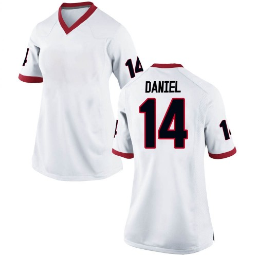 Women's Nike DJ Daniel Georgia Bulldogs Replica White Football College Jersey