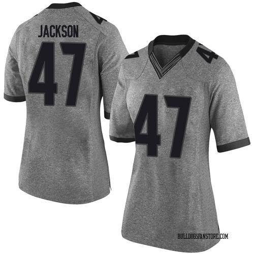 Women's Nike Dan Jackson Georgia Bulldogs Limited Gray Football College Jersey