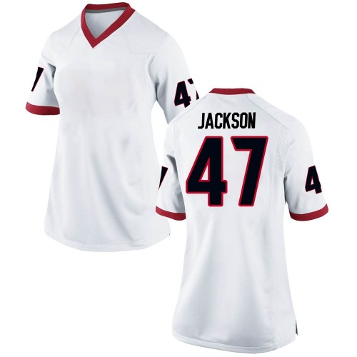 Women's Nike Dan Jackson Georgia Bulldogs Replica White Football College Jersey
