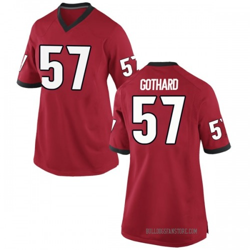 Women's Nike Daniel Gothard Georgia Bulldogs Replica Red Football College Jersey