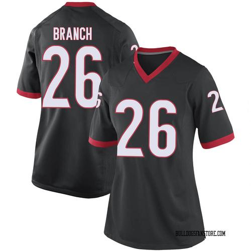 Women's Nike Daran Branch Georgia Bulldogs Replica Black Football College Jersey
