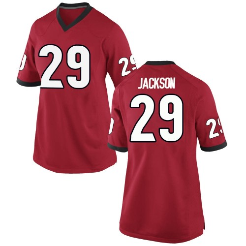 Women's Nike Darius Jackson Georgia Bulldogs Game Red Football College Jersey