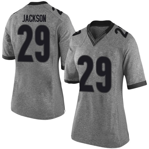 Women's Nike Darius Jackson Georgia Bulldogs Limited Gray Football College Jersey