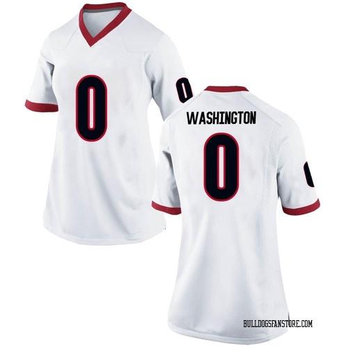 Women's Nike Darnell Washington Georgia Bulldogs Game White Football College Jersey