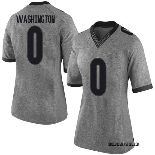Women's Nike Darnell Washington Georgia Bulldogs Limited Gray Football College Jersey