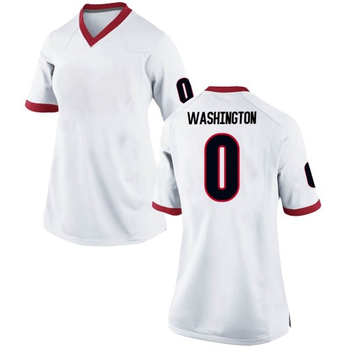 Women's Nike Darnell Washington Georgia Bulldogs Replica White Football College Jersey