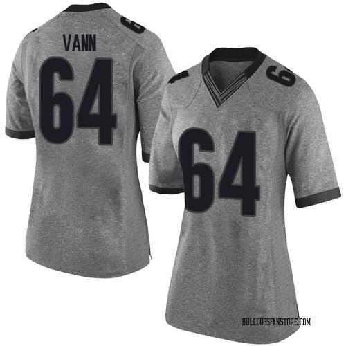Women's Nike David Vann Georgia Bulldogs Limited Gray Football College Jersey