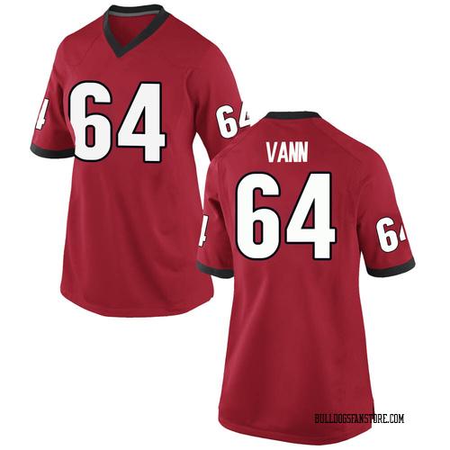 Women's Nike David Vann Georgia Bulldogs Replica Red Football College Jersey