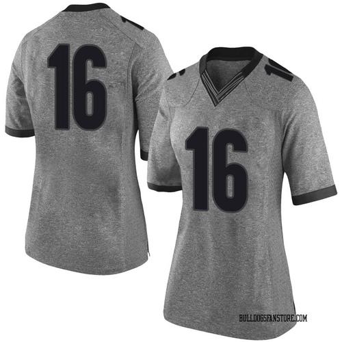 Women's Nike Demetris Robertson Georgia Bulldogs Limited Gray Football College Jersey