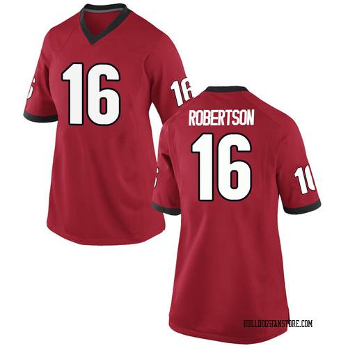 Women's Nike Demetris Robertson Georgia Bulldogs Replica Red Football College Jersey
