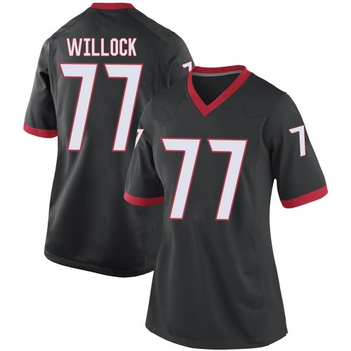 Women's Nike Devin Willock Georgia Bulldogs Replica Black Football College Jersey