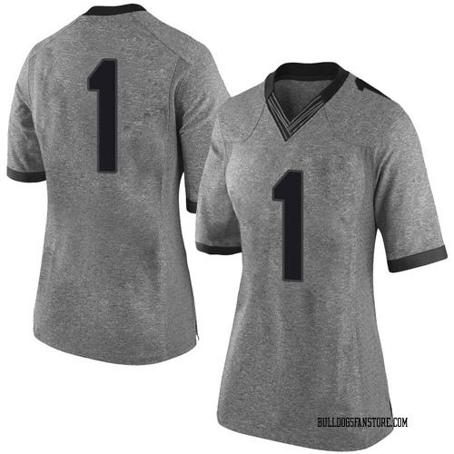 Women's Nike Divaad Wilson Georgia Bulldogs Limited Gray Football College Jersey