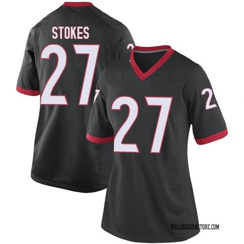Women's Nike Eric Stokes Georgia Bulldogs Game Black Football College Jersey