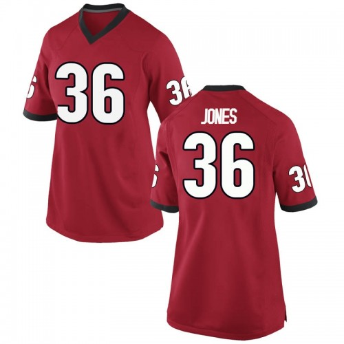 Women's Nike Garrett Jones Georgia Bulldogs Replica Red Football College Jersey