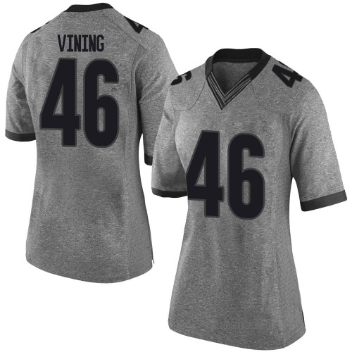 Women's Nike George Vining Georgia Bulldogs Limited Gray Football College Jersey