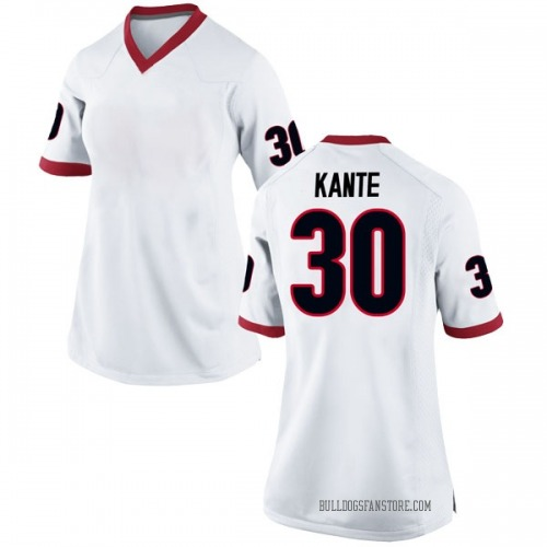 Women's Nike Isaac Kante Georgia Bulldogs Game White Football College Jersey