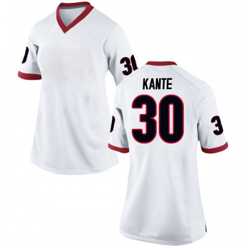 Women's Nike Isaac Kante Georgia Bulldogs Replica White Football College Jersey