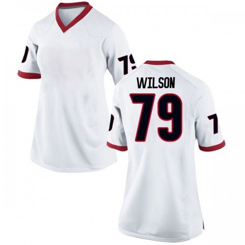 Women's Nike Isaiah Wilson Georgia Bulldogs Replica White Football College Jersey