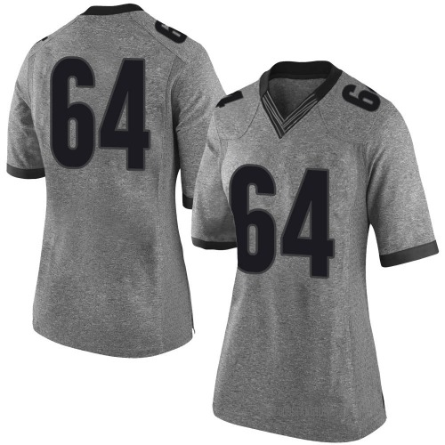 Women's Nike JC Vega Georgia Bulldogs Limited Gray Football College Jersey