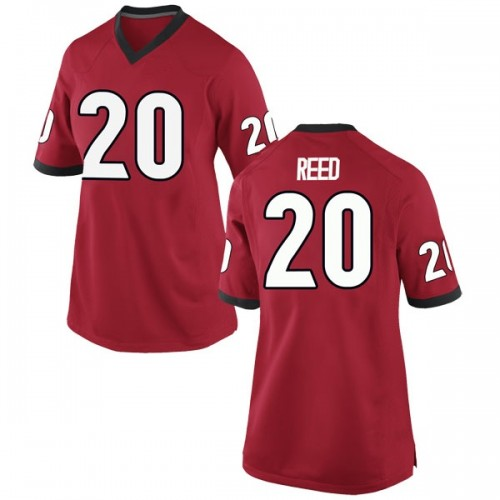 Women's Nike J.R. Reed Georgia Bulldogs Game Red Football College Jersey