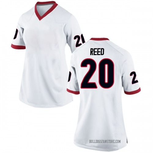 Women's Nike J.R. Reed Georgia Bulldogs Game White Football College Jersey