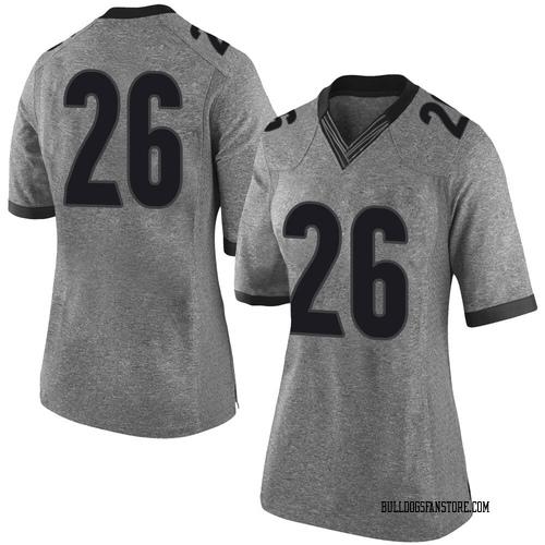 Women's Nike Jackson Muschamp Georgia Bulldogs Limited Gray Football College Jersey