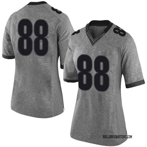 Women's Nike Jaden Hunter Georgia Bulldogs Limited Gray Football College Jersey