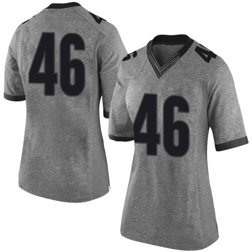 Women's Nike Jake Wilson Georgia Bulldogs Limited Gray Football College Jersey