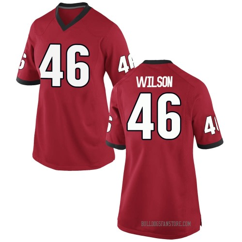 Women's Nike Jake Wilson Georgia Bulldogs Replica Red Football College Jersey