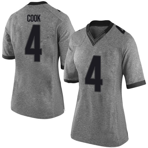 Women's Nike James Cook Georgia Bulldogs Limited Gray Football College Jersey