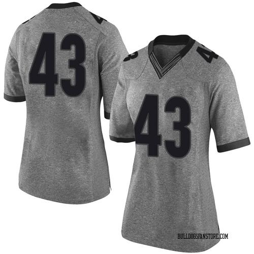 Women's Nike Jehlen Cannady Georgia Bulldogs Limited Gray Football College Jersey