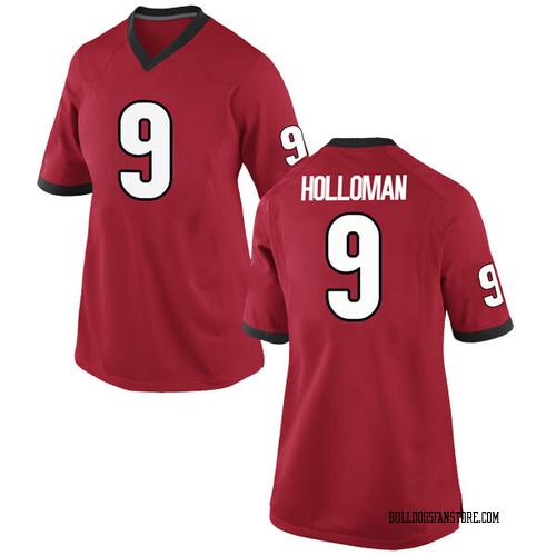 Women's Nike Jeremiah Holloman Georgia Bulldogs Game Red Football College Jersey