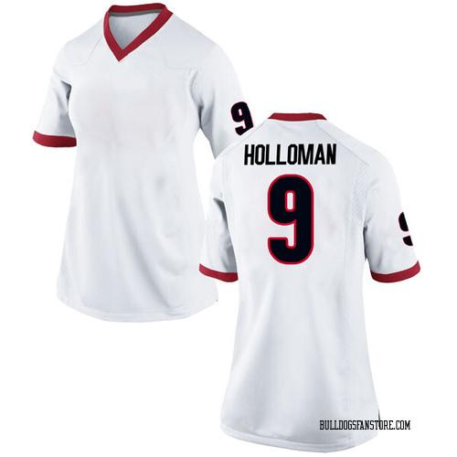Women's Nike Jeremiah Holloman Georgia Bulldogs Game White Football College Jersey