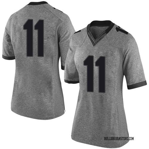 Women's Nike Jermaine Johnson Georgia Bulldogs Limited Gray Football College Jersey