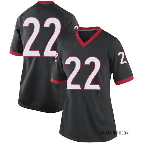 Women's Nike Jes Sutherland Georgia Bulldogs Replica Black Football College Jersey