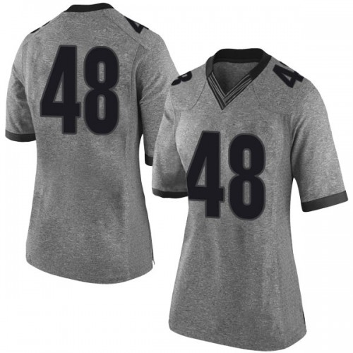Women's Nike John Eager Georgia Bulldogs Limited Gray Football College Jersey