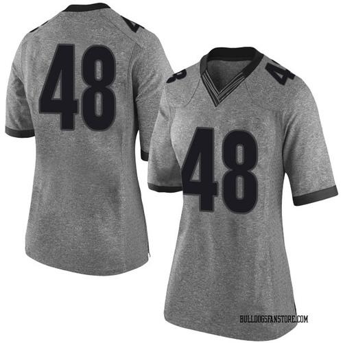 Women's Nike John Eager Georgia Bulldogs Limited Gray Football College Jersey