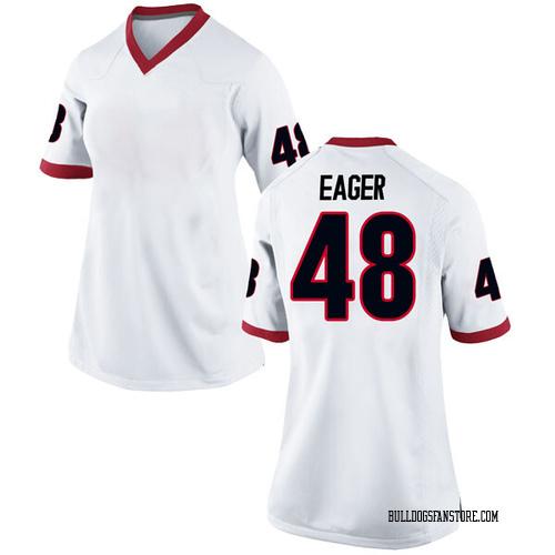 Women's Nike John Eager Georgia Bulldogs Replica White Football College Jersey